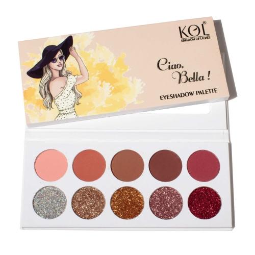 Ciao Bella - Matte and Glitter Eyeshadow Palette